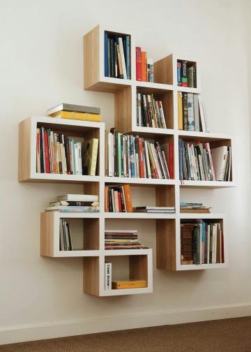 repisas de madera para libros modernas