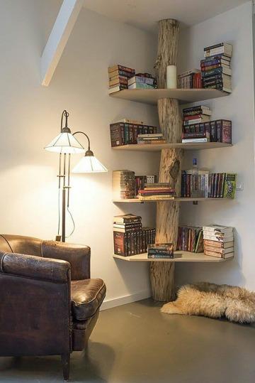 repisas de madera para libros originales