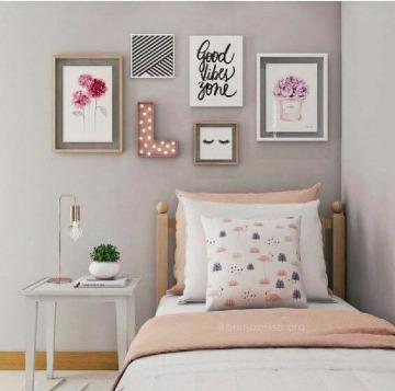 decoracion con cuadros para dormitorios juveniles