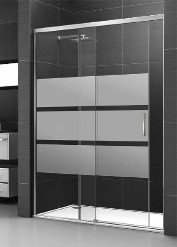 diseños de baños con cristal templado