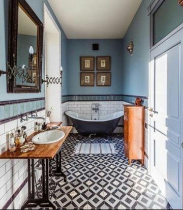 diseños de cuadros para decorar baños