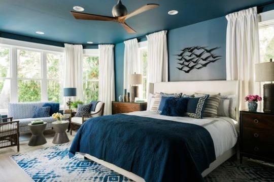 habitaciones color azul matrimoniales