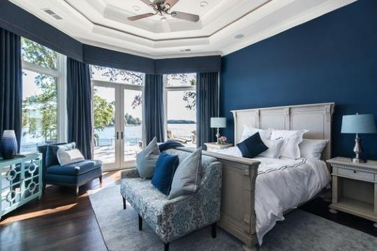 habitaciones color azul oscuro