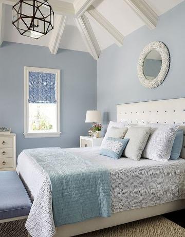 habitaciones color azul pastel