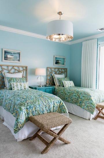 habitaciones color azul playeras