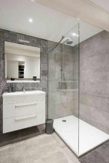 imagenes de baños con cristal templado