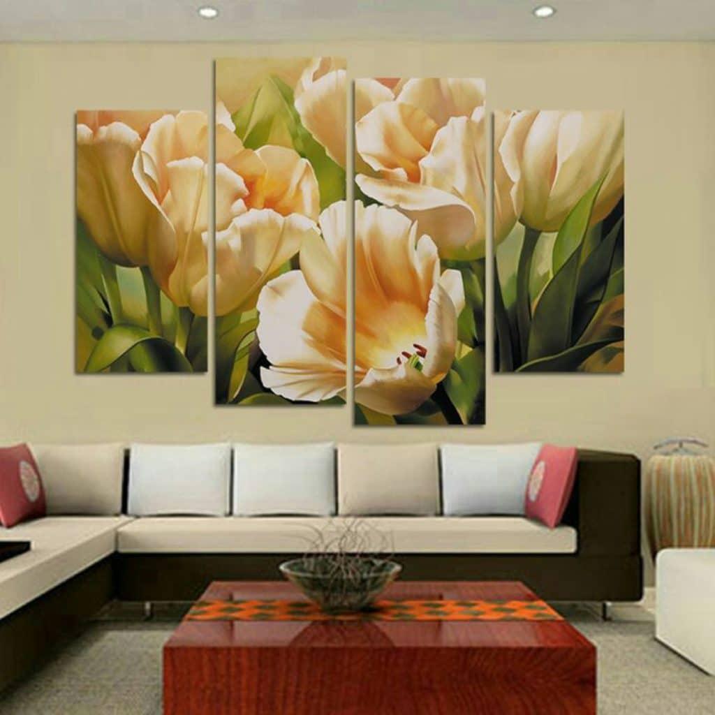 imagenes de cuadros de flores para sala