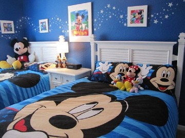 cuartos decorados de mickey mouse para niños