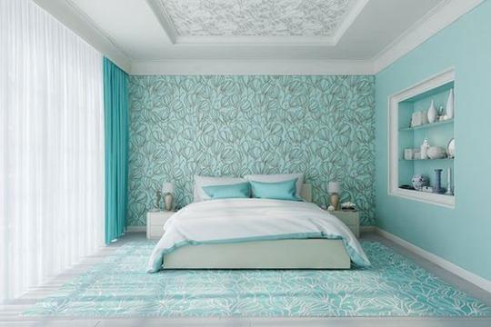 decoracion con colores relajantes para recamaras