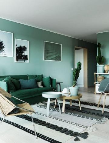 decoracion con colores verdes para interiores