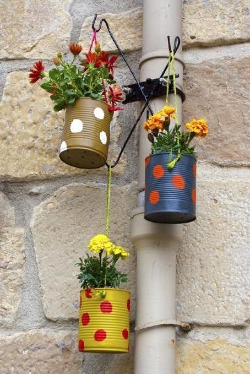 imagenes de floreros con material reciclado