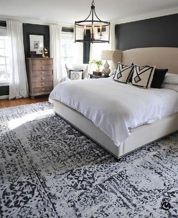 imagenes de habitaciones color gris y blanco