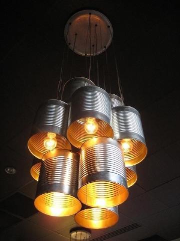 imagenes de lamparas con material reciclado