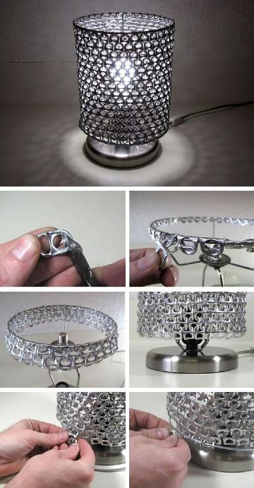 lamparas con material reciclado paso a paso