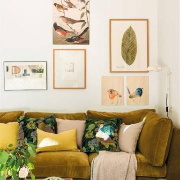 paredes decoradas con cuadros clasicos