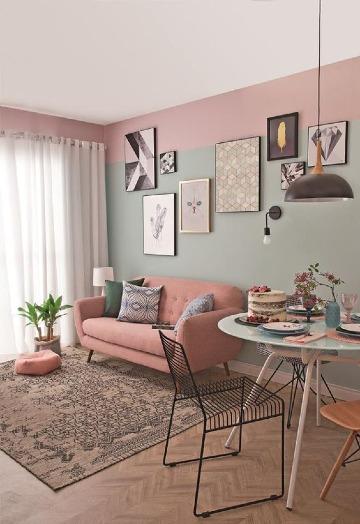 salas pintadas de dos colores claros