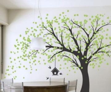 vinilos de arboles para paredes del comedor