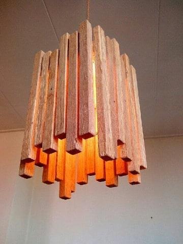 como hacer lamparas artesanales de madera