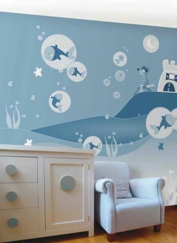 como hacer murales infantiles para pared