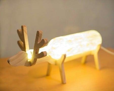 creativas lamparas artesanales de madera