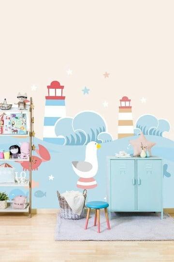 diseños de murales infantiles para pared
