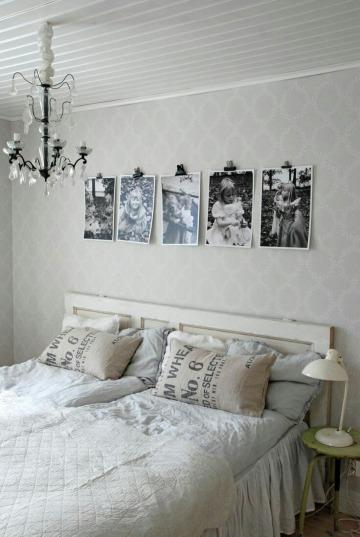 fotos en la pared de la habitacion para decoracion