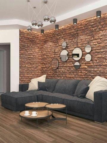 imagenes de paredes decoradas con ladrillos
