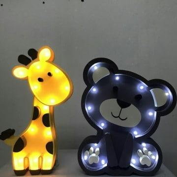 lampara de noche para bebes de animales