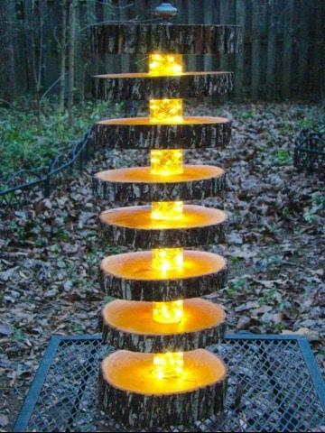 lamparas artesanales de madera para el jardin