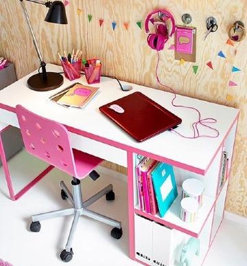 modelos de mesas de estudio para niñas