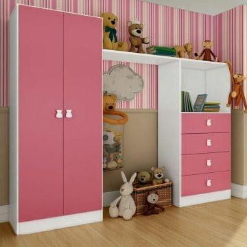 muebles y roperos de melamina para niñas