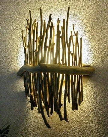 originales lamparas artesanales de madera
