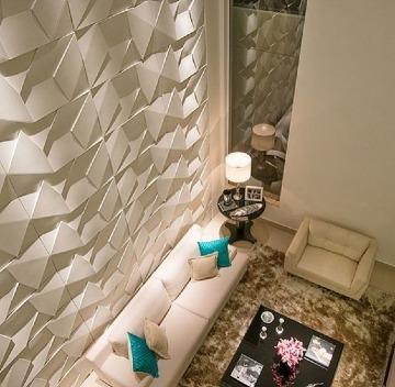 paredes decoradas para salas lujosas