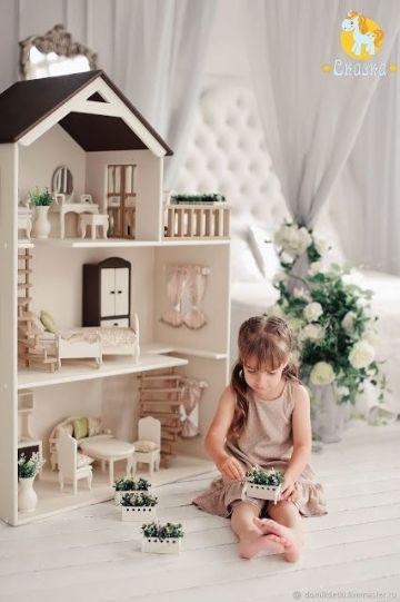 casas de muñecas para jugar de 3 pisos