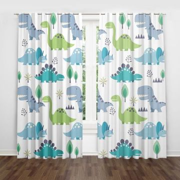 cortinas para cuartos de niños de dinosaurios