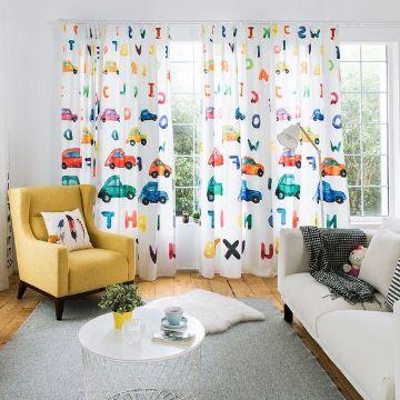 divertidas cortinas para cuartos de niños