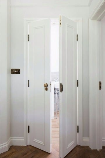 fotos de diseños de puertas para baño