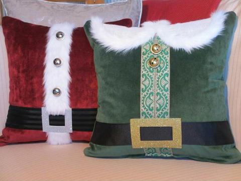 imagenes de cojines navideños de papa noel
