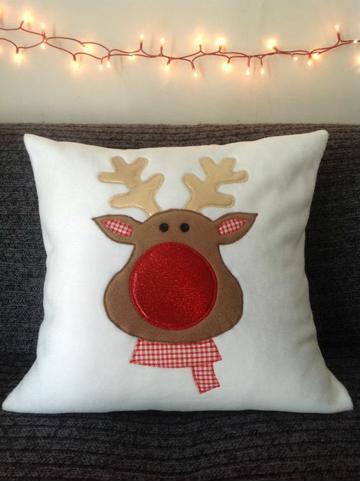 imagenes de cojines navideños de tela