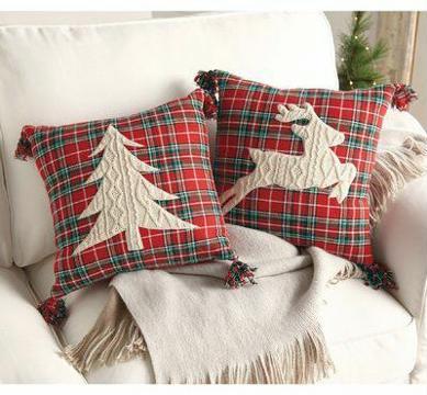 imagenes de cojines navideños elegantes