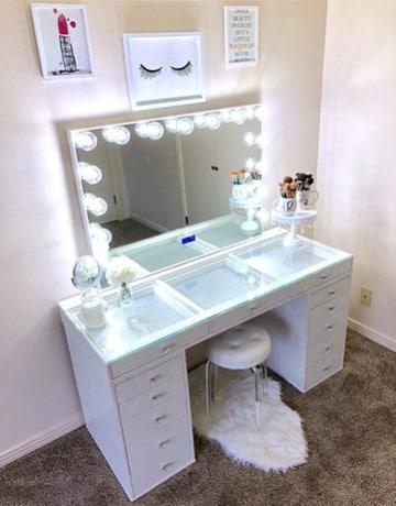 tocador muebles para maquillaje con espejo