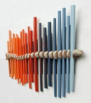 adornos de madera para pared de colores