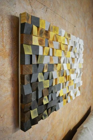 adornos de madera para pared elegantes