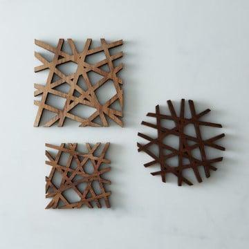adornos de madera para pared modernos