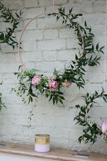arreglos florales para pared colgantes