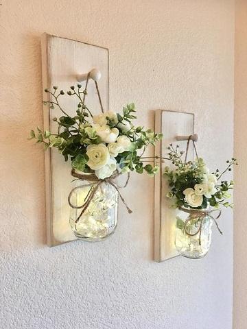 arreglos florales para pared naturales