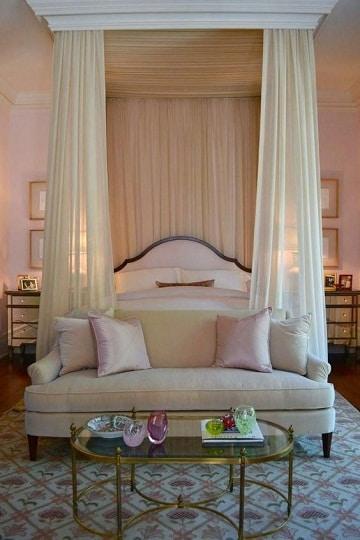 camas con cortinas romanticas matrimonial