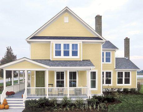 colores de casas por fuera amarillo