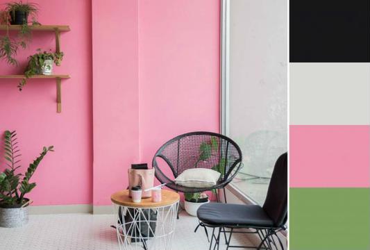 combinación de colores en paredes contraste
