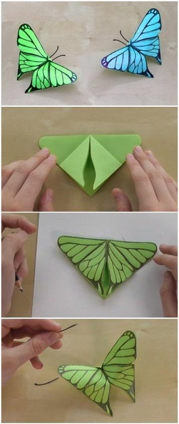 como hacer mariposas para decorar paredes